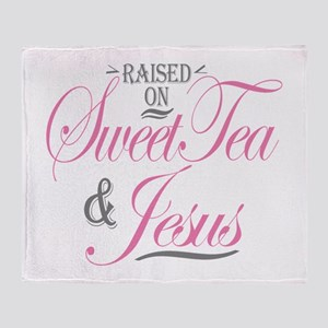 Sweet Tea and Jesus Throw Blanket