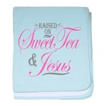 Sweet Tea and Jesus baby blanket