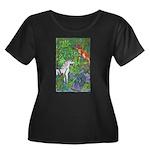 Suprise! Women's Plus Size Scoop Neck Dark T-Shirt