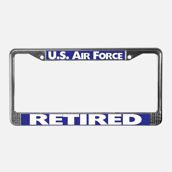 U.s.air Force Retired License Plate Frame