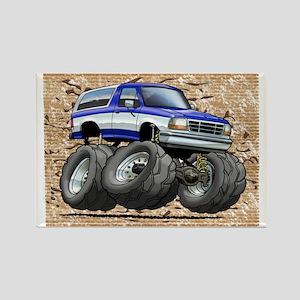 95_Blue_W_Bronco Rectangle Magnet