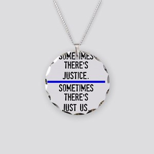 Justice Necklace Circle Charm