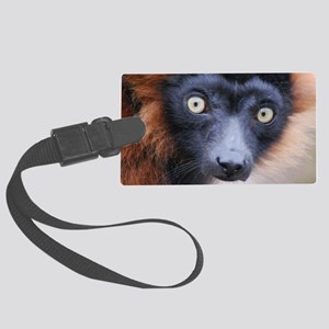 Red Ruffed Lemur Shoulder Bag Large Luggage Tag