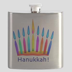 NEON Hanukkah Menorah Bedding Flask