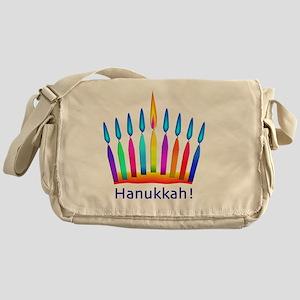 NEON Hanukkah Menorah Bedding Messenger Bag