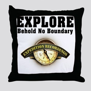 Expedition - Motto Throw Pillow