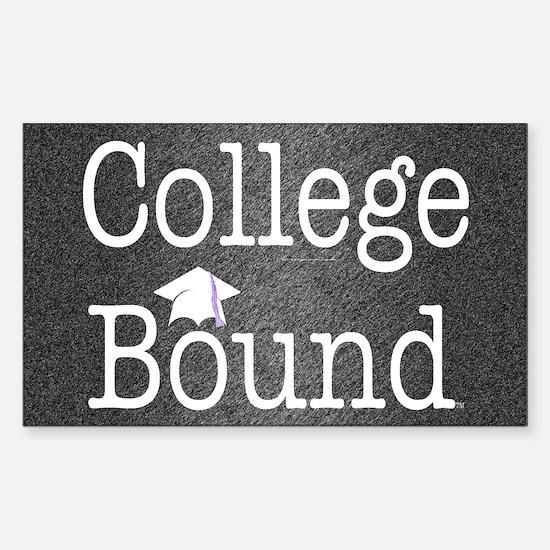 College Bound Sticker (Rectangle)