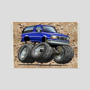 95_Blue_Bronco Rectangle Magnet