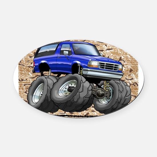 95_Blue_Bronco Oval Car Magnet