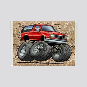 95_Red_Bronco Rectangle Magnet