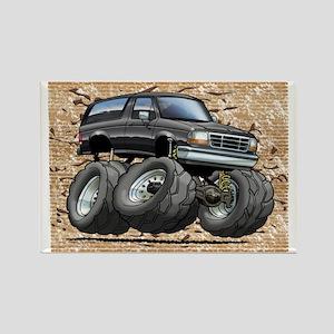 95_Black_Bronco Rectangle Magnet