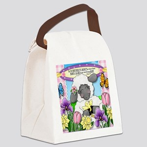 Cuddly Sweet Sheep Canvas Lunch Bag