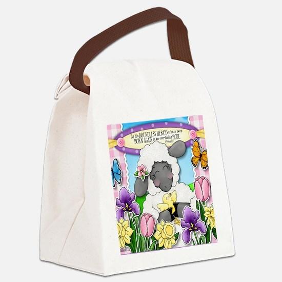 Cuddly Sweet Sheep Canvas Lunch Bag