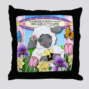 Cuddly Sweet Sheep Throw Pillow