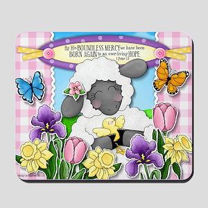 Cuddly Sweet Sheep Mousepad