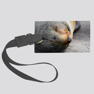 South American Fur Seal Shoulder Large Luggage Tag