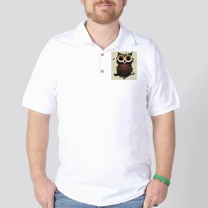 coffee owl Golf Shirt