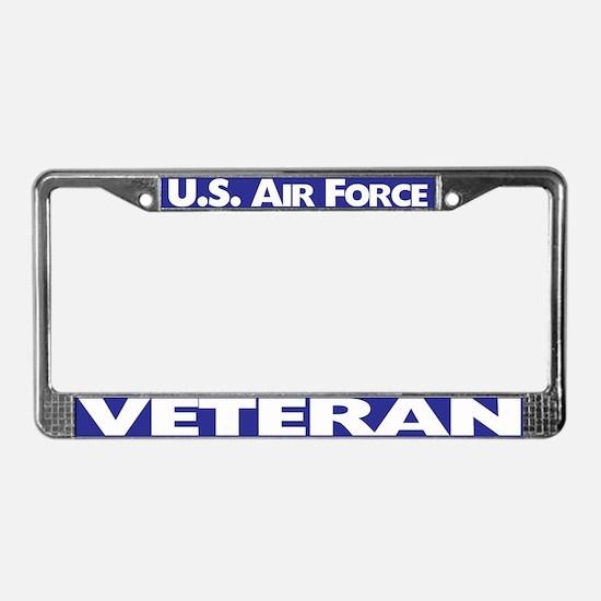 U.s.air Force Veteran License Plate Frame
