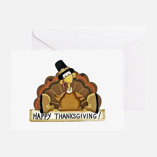 Happy Thanksgiving Turkey Greeting Cards
