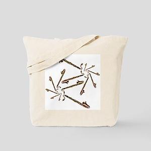 Bass Clarinet Spirals Tote Bag