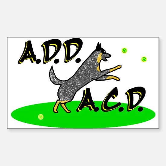 add acd blue Rectangle Decal