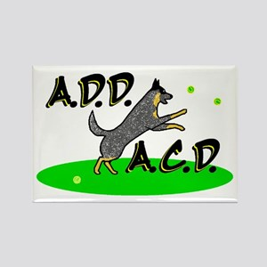 add acd blue Rectangle Magnet
