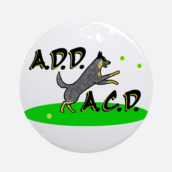 add acd blue Ornament (Round)