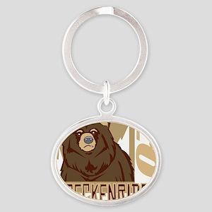 Breckenridge Grumpy Grizzly Oval Keychain
