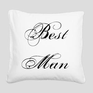 Best Man Square Canvas Pillow