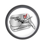 Thank Vets With Votes Wall Clock