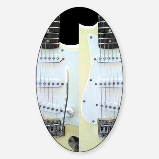 Guitar FF (Electric) Sticker (Oval)