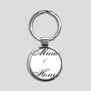 Maid of Honor Round Keychain