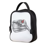 Thank Vets With Votes Neoprene Lunch Bag