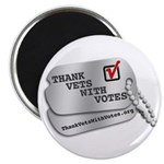 Thank Vets With Votes Magnets