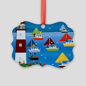 Boat race Picture Ornament