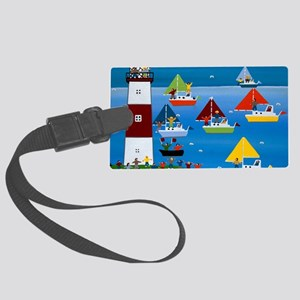 Boat race Large Luggage Tag