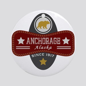 Anchorage Nature Marquis Round Ornament