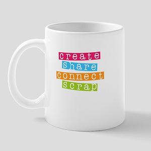 Create Share Connect Scrap Mug