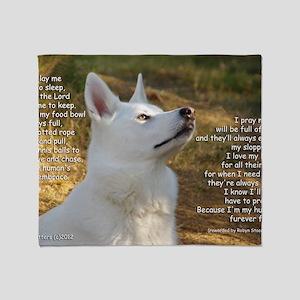 Shasta Dogs Prayer Now I Lay Me Down Throw Blanket