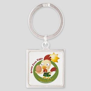Scott Free Eggs Logo Square Keychain
