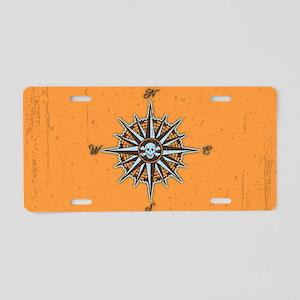 compass-rose5-OV Aluminum License Plate