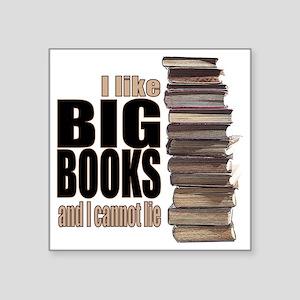 "Big Books Square Sticker 3"" x 3"""