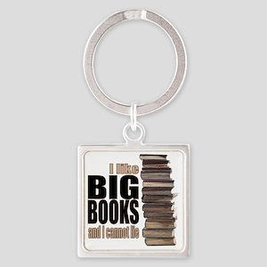 Big Books Square Keychain