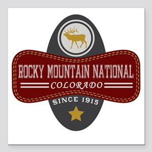 """Rocky Mountain Natural M Square Car Magnet 3"""" x 3"""""""