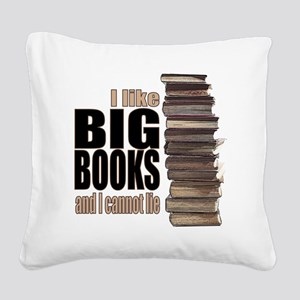Big Books Square Canvas Pillow