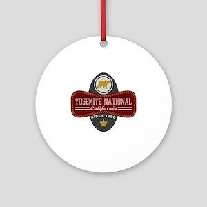 Yosemite Natural Marquis Round Ornament