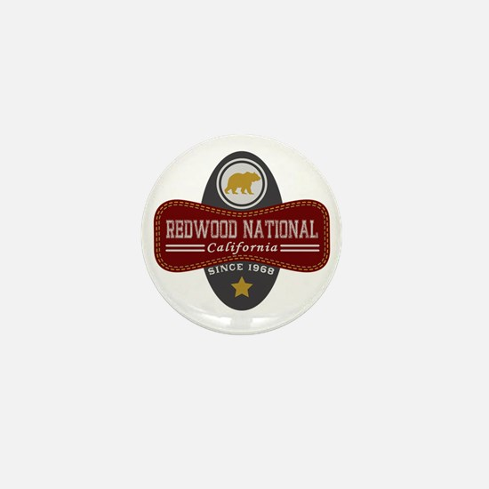 Redwood Natural Marquis Mini Button