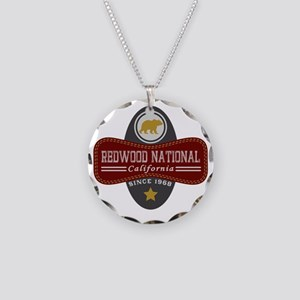 Redwood Natural Marquis Necklace Circle Charm