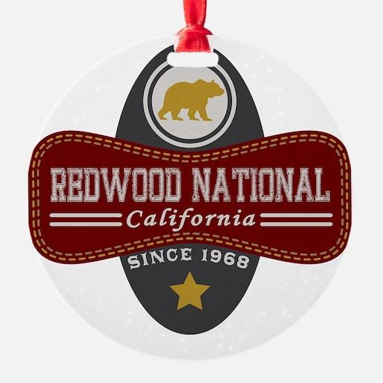 Redwood Natural Marquis Ornament