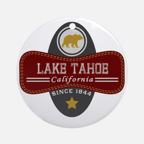 Lake Tahoe Nature Marquis Round Ornament
